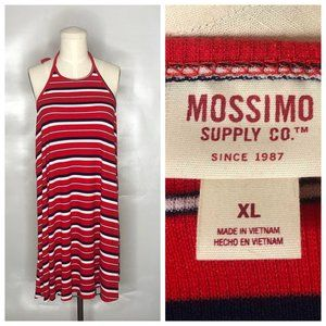 Mossimo Halter Dress Striped Backless 4th of July